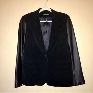 Ralph Lauren Leather-Sleeve Blazer